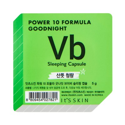 Ночная маска-капсула для проблемной кожи It's Skin Power 10 Formula Goodnight Sleeping Capsule VB 5г: фото