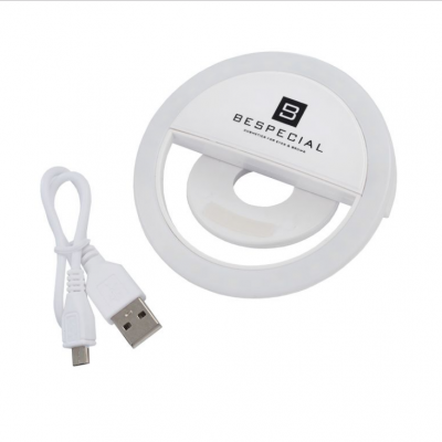 Портативная светодиодная лампа для смартфона Bespecial белая: фото