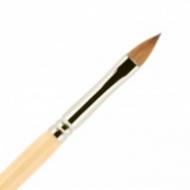 Кисть для ногтей акрил ВАЛЕРИ-Д из волоса колонка №6 лепесток в футляре: фото