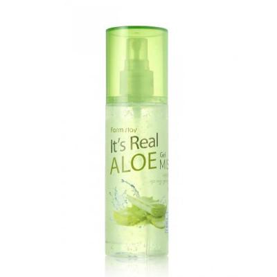 Гель-мист для лица с экстрактом алоэ FARMSTAY It's real gel mist aloe 120 ml: фото