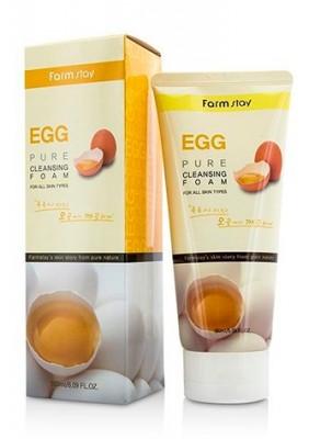 Пенка очищающая с яичным экстрактом FARMSTAY Egg pure cleansing foam 180 мл: фото