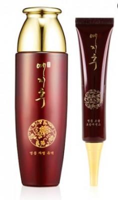 Эмульсия с экстрактом красного женьшеня BERGAMO Yezihu emulsion+moisture serum 150 мл: фото