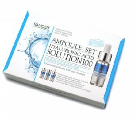 Сыворотка-концентрат гиалуроновой кислоты RAMOSU Hyaluronic acid solution 100 10мл*3: фото
