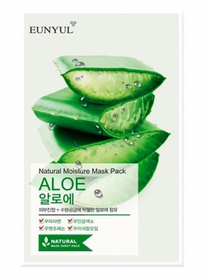 Тканевая маска с алоэ EUNYUL Natural moisture mask pack aloe 23 мл: фото