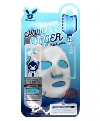 Маска тканевая увлажняющая ELIZAVECCA Aqua Deep Power Ringer Mask Pack: фото