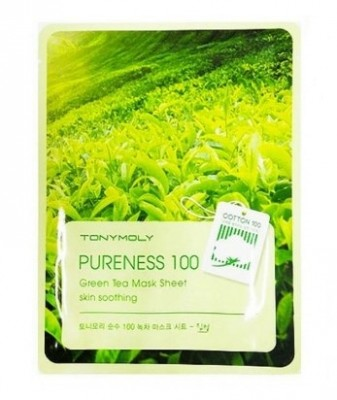 Маска для лица с зеленым чаем TONY MOLY Pureness 100 green tea mask sheet 21 мл: фото