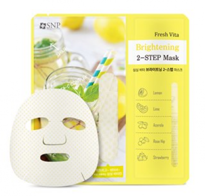 Двухэтапная маска придающая сияние Fresh vita brightening two-step mask 25г.: фото