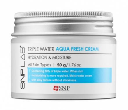 Освежающий гель-крем SNP Lab+Triple water fresh gel cream 50 гр.: фото