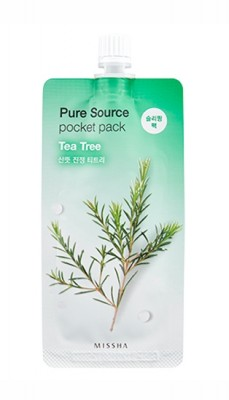 Маска ночная Зеленый чай MISSHA Pure Source Pocket Pack Tea Tree 10мл: фото