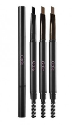 Карандаш для бровей OTTIE Natural Drawing Eye Brow Pencil №02 Dark Brown: фото
