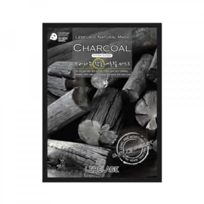 Тканевая маска с экстрактом древесного угля LEBELAGE, 23г: фото