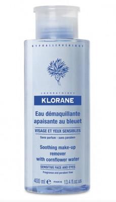 Очищающая вода с экстрактом Василька Klorane Eye Care Range 400 мл: фото