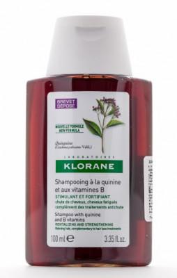 Шампунь с экстрактом Хинина укрепляющий Klorane Thinning Hair 100 мл: фото