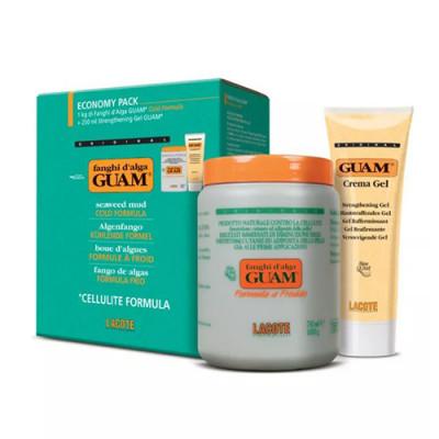 Набор Guam Fanghi d'Alga Маска антицеллюлитная с охлаждающим эффектом 1 кг + Гель-лифтинг укрепляющий 250 мл: фото