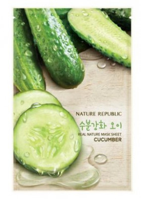 Маска для лица листовая NATURE REPUBLIC REAL NATURE CUCUMBER MASK SHEET 23гр: фото