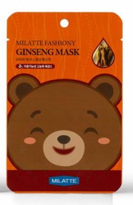 Набор тканевых масок с экстрактом женьшеня Milatte Fashiony Ginseng Mask Sheet, 21 мл*10 шт.: фото