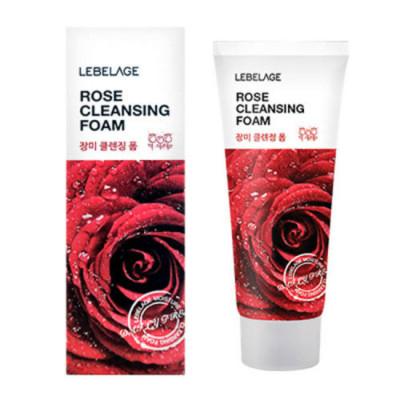 Пенка увлажняющая с экстрактом дамасской розы LEBELAGE Rose Cleansing Foam: фото