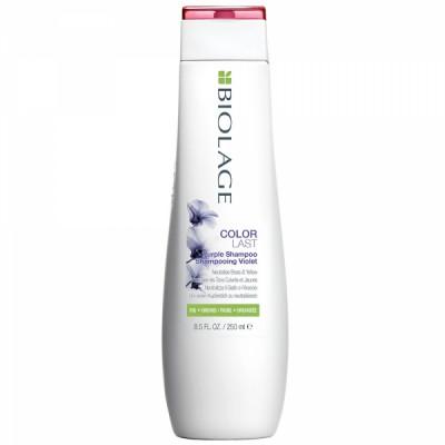 Шампунь фиолетовый для нейтрализации желтизны Matrix Biolage Colorlast Purple Shampoo 250мл: фото