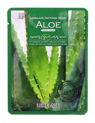 Тканевая маска Успокаивающая с соком алоэ LEBELAGE Aloe Natural Mask: фото