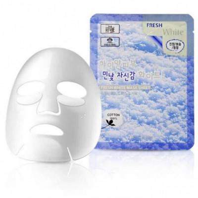 Тканевая маска осветляющая 3W CLINIC Fresh mask sheet white 23мл: фото
