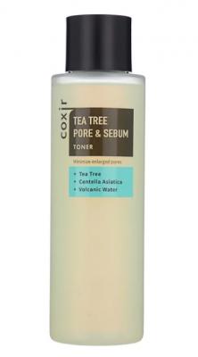 Тонер с чайным деревом для сужения пор COXIR Tea Tree Pore & Sebum Toner 150мл: фото