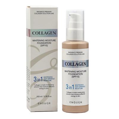 Тональная основа с коллагеном 3в1 Enough 3in1 Collagen foundation тон21 100мл: фото