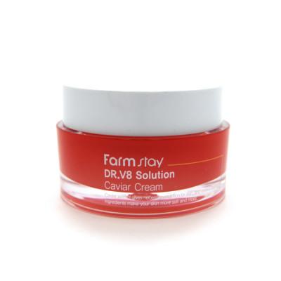 Крем с экстрактом икры FarmStay Dr.V8 Solution Caviar Cream 50мл: фото