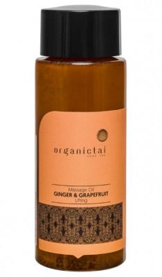 Масло массажное для тела с имбирем и грейпфрутом ORGANIC TAI Massage Oil Ginger & Grapefruit Lifting 100 мл: фото