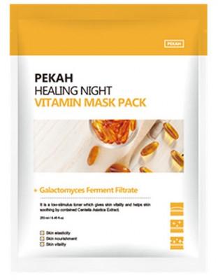 Тканевая маска с витаминами Healing Night Vitamin Mask Pack 25мл*5шт: фото