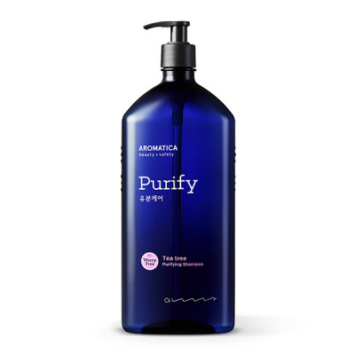 Шампунь для жирных волос с маслом чайного дерева AROMATICA Tea Tree Purifying Shampoo 400мл: фото