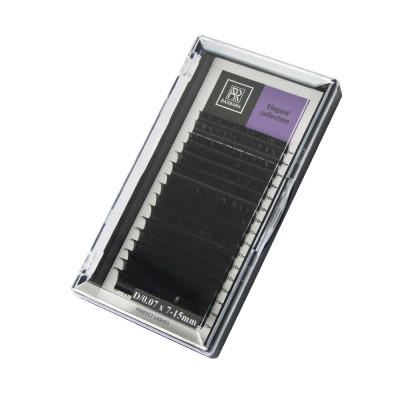 Чёрные ресницы BARBARA Elegant МИКС (D 0.07 7-15mm): фото