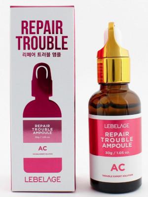 Ампульная сыворотка для проблемной кожи Lebelage Repair Ampoule Trouble AC 30 мл: фото