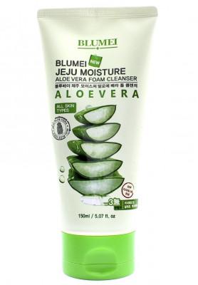 Пена для умывания с Алоэ Blumei Jeju Moisture Aloe Vera Foam Cleanser 150 мл: фото